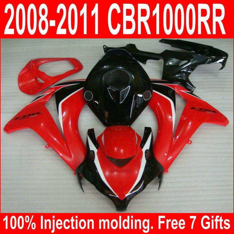 Injection molding hot sale fairing kit for Honda CBR1000RR 08 09 10 11 red black fairings set CBR1000RR 2008-2011 UY13
