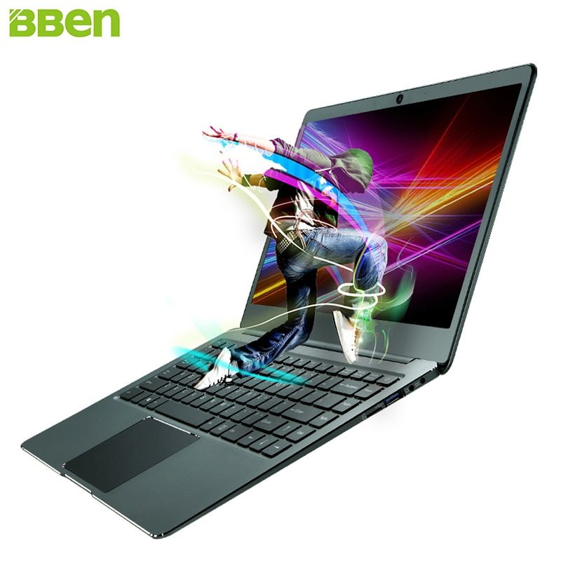BBEN N14W 14.1'' Ultrabook Laptop Windows 10 Intel N3450 Quad Core 4GB RAM 64G ROM SSD Option WiFi Type C Netbook Colorful