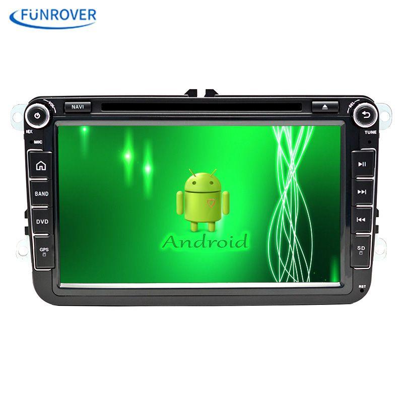Free shipping 8 Inch Car Radio Player For VW/Volkswagen POLO PASSAT Golf TOURAN SHARAN Quad Core Wifi 4G GPS Navigation Radio