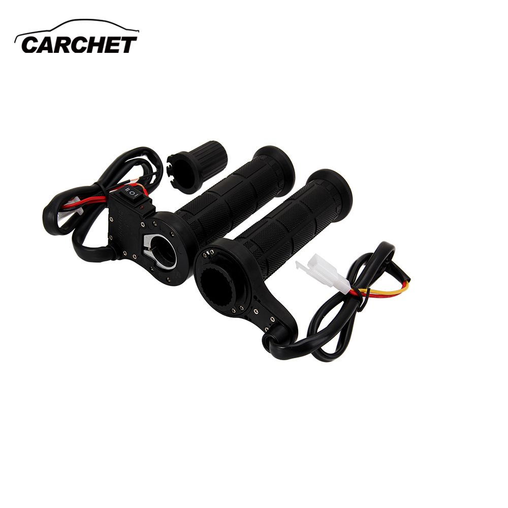 CARCHET Motorcycle Handlebar Motorbike Heating Handle Heated <font><b>Grips</b></font> Set Universal Motocross Handlebars Heated <font><b>Grip</b></font> For Honda etc