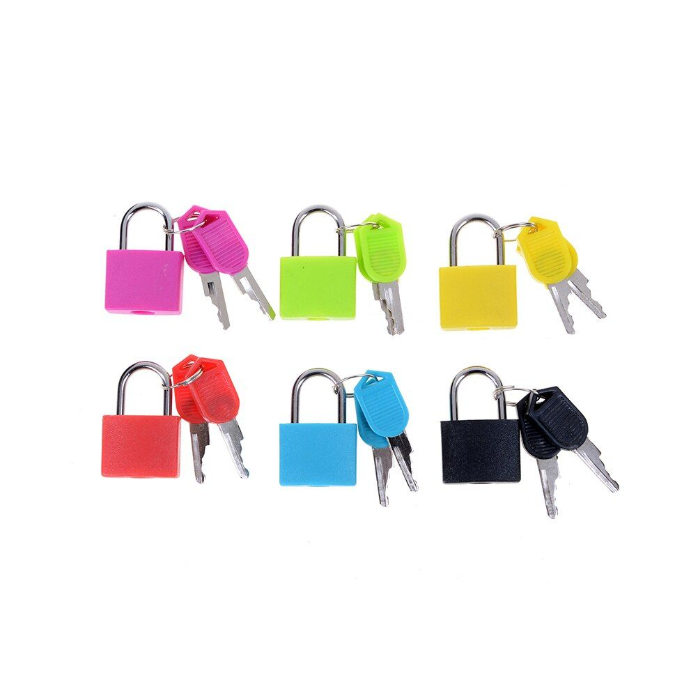 Hot sale Best Price New 6 colors Small Mini Strong Steel Padlock Travel Tiny Suitcase Lock with 2 Keys