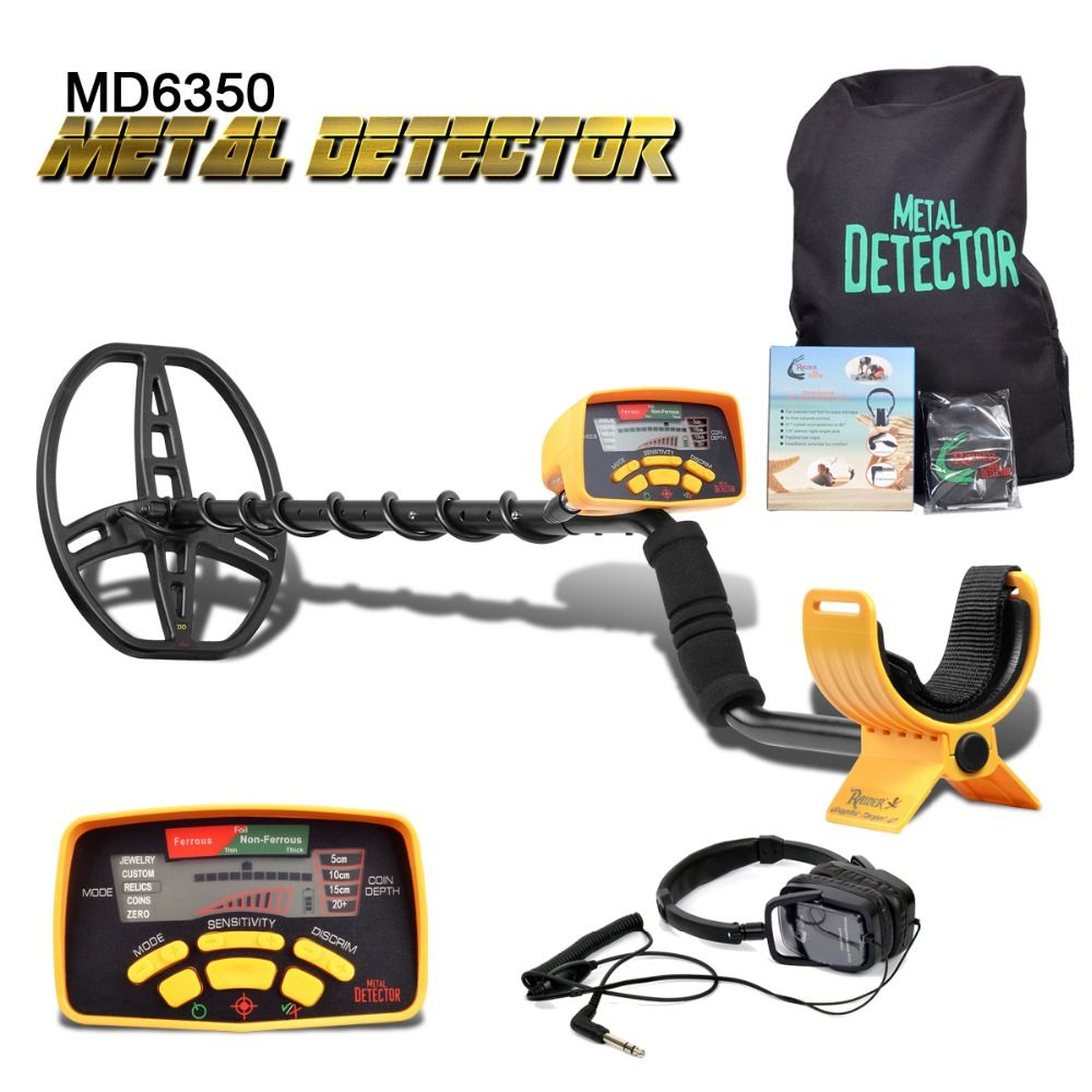 Underground Metal <font><b>Detector</b></font> Professional MD6350 Gold Digger Treasure Hunter MD6250 Updated MD-6350 Pinpointer LCD Display