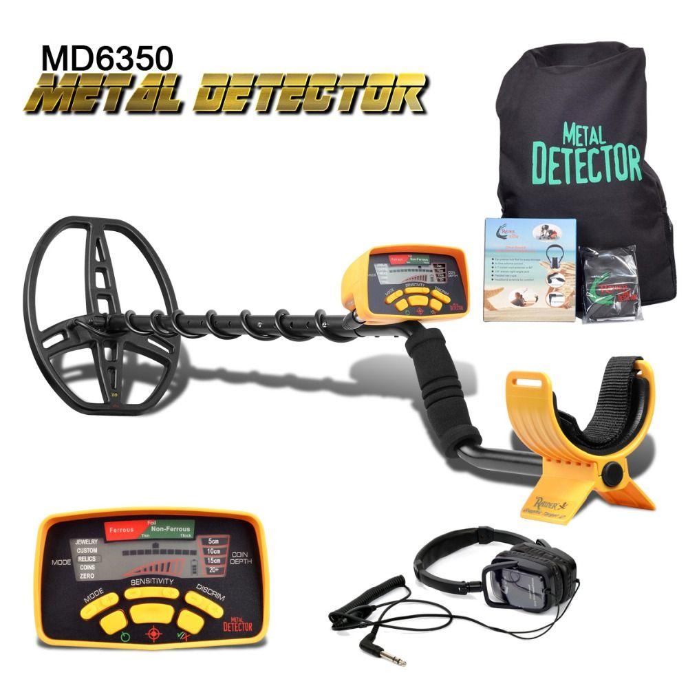 Unterirdischen Metall Detektor Professionelle MD6350 Gold Digger Schatz Hunter MD6250 Aktualisiert MD-6350 Pinpointer LCD Display