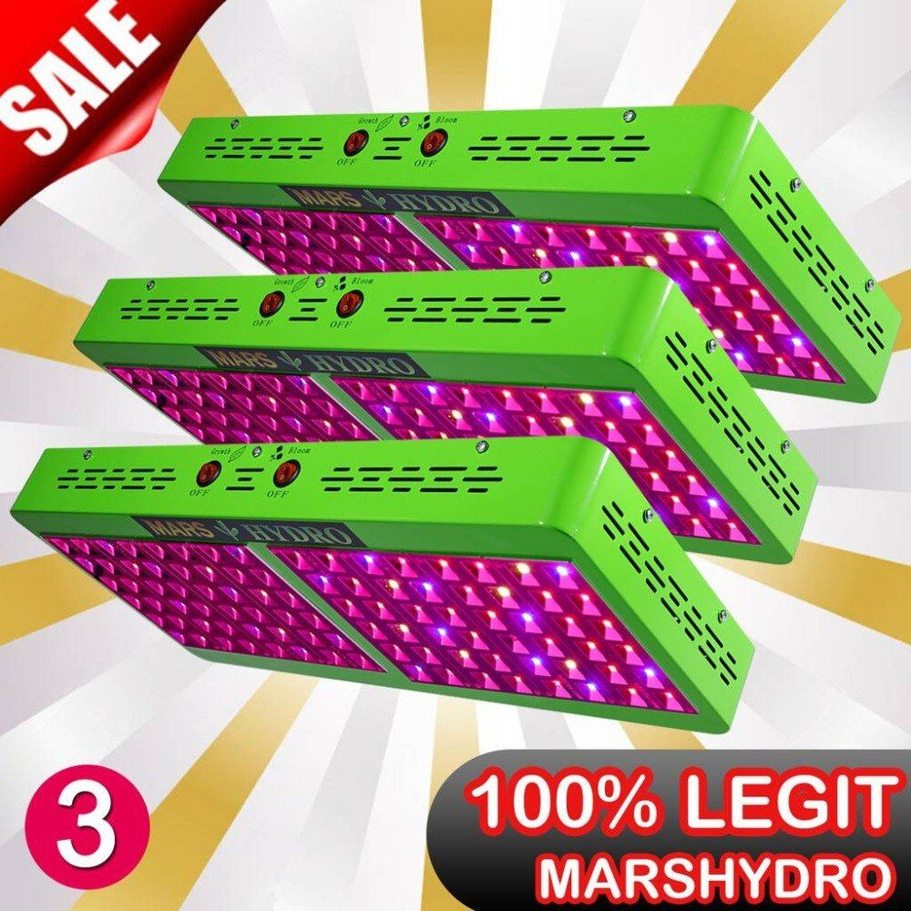3PCS Mars Hydro Reflector 480W LED Grow Light Veg/Bloom Switchable Full Spectrum Indoor Plant Hydroponic System NO STOCK IN RU