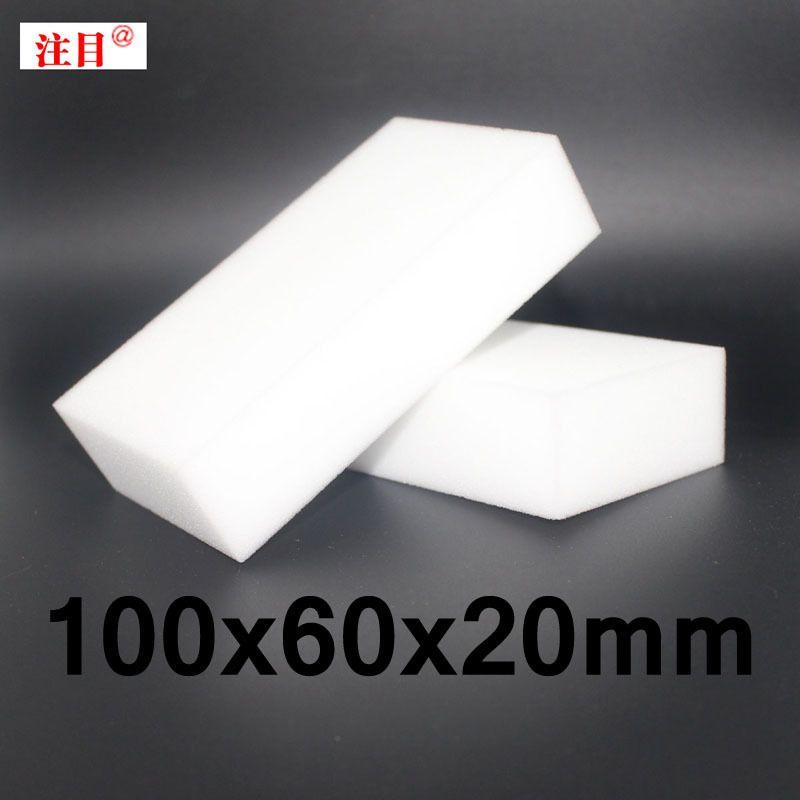100 pièces En Gros Blanc Éponge Magique Gomme Mélamine Nettoyant multifonctionnel Nettoyage 100x60x20mm