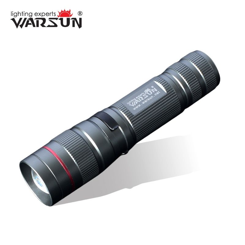 WARSUN  268 Lumen Mini Handy LED Torch Flash Light Rechargeable Zoomable Lamp Lantern Linternas Flashlight  For Hunting ZOOM8