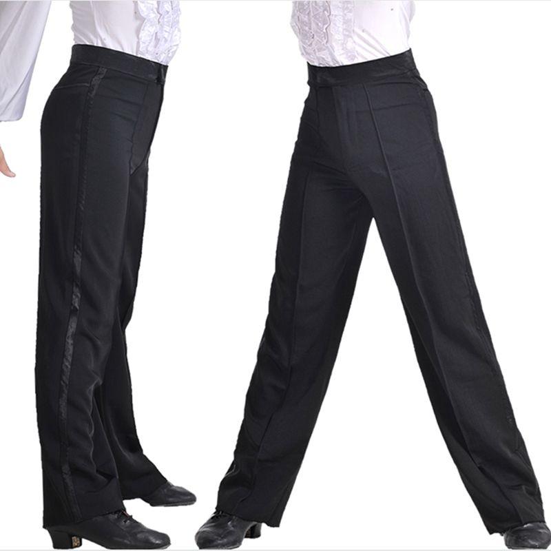 Garçons professionnels moderne salle de bal Salsa Tango Rumba Samba Cha Cha Latin danse pantalon noir danse pantalon pour hommes