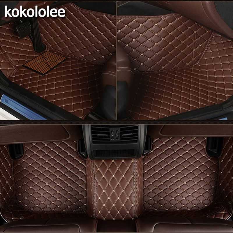 kokololee Custom car floor mats for Jeep All Models Grand Cherokee renegade compass Commander Cherokee car styling accessories