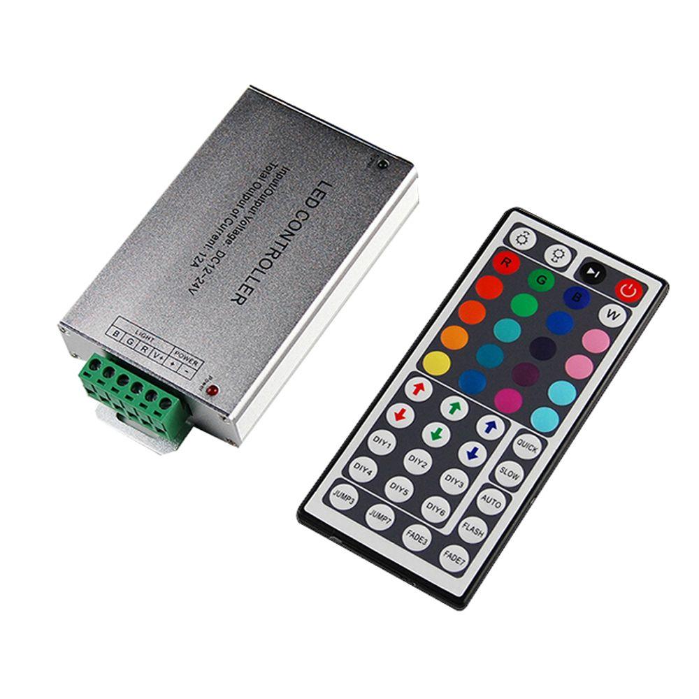 Led Contrôleur 24/44 Touches LED IR RGB Contrôleur IR À Distance Gradateur DC12V 144 w Pour SMD 3528 5050 10 m-20 m LED RGB bande