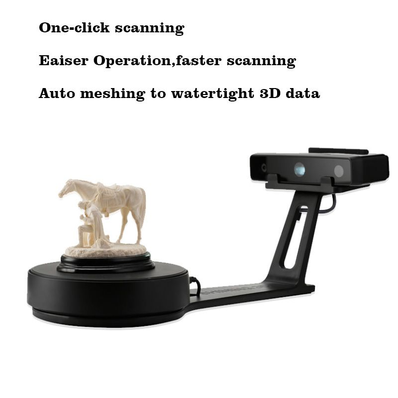 EinScan-SE White Light Desktop 3D Scanner,One click scanning,Easy& fast, Fixed/Auto Scan Mode,0.1 mm Accuracy, 8s Scan Speed