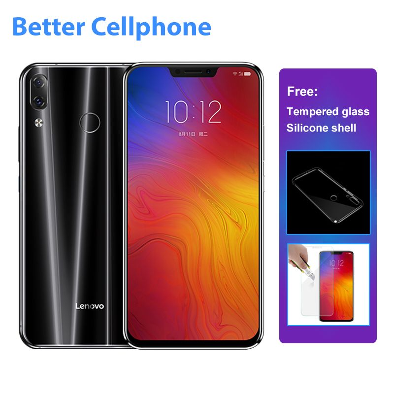 Lenovo Z5 L78011 fingerprint Face-ID SmartPhone Snapdragon 636 Octa-Core 1.8Ghz Dual Rear 16MP+8MP 6GB RAM+64GB ROM OTG 3300mAh