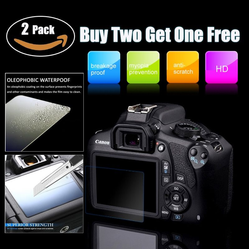 2 PCS 9H Tempered Glass LCD Screen Protector For Sony A7 A7S MARK II A7II A7RII A7SII A7RMII A7MII A7SMII Camera Screen Film