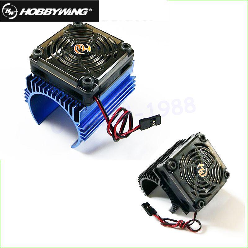 Original hobbywing 1: 8 RC Car Motor Radiator + 5V cooling fan assembly suit for Hobbywing 4465 3665/3674 motor