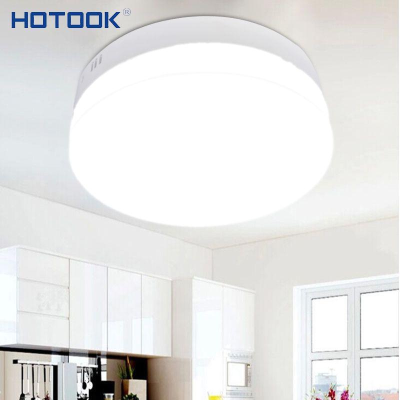 HOTOOK LED Panneau Dimmable LED Downlight 6 W 12 W 18 W 24 W Mini Carré Rond Surface Monté LED plafonnier pour La Maison cuisine