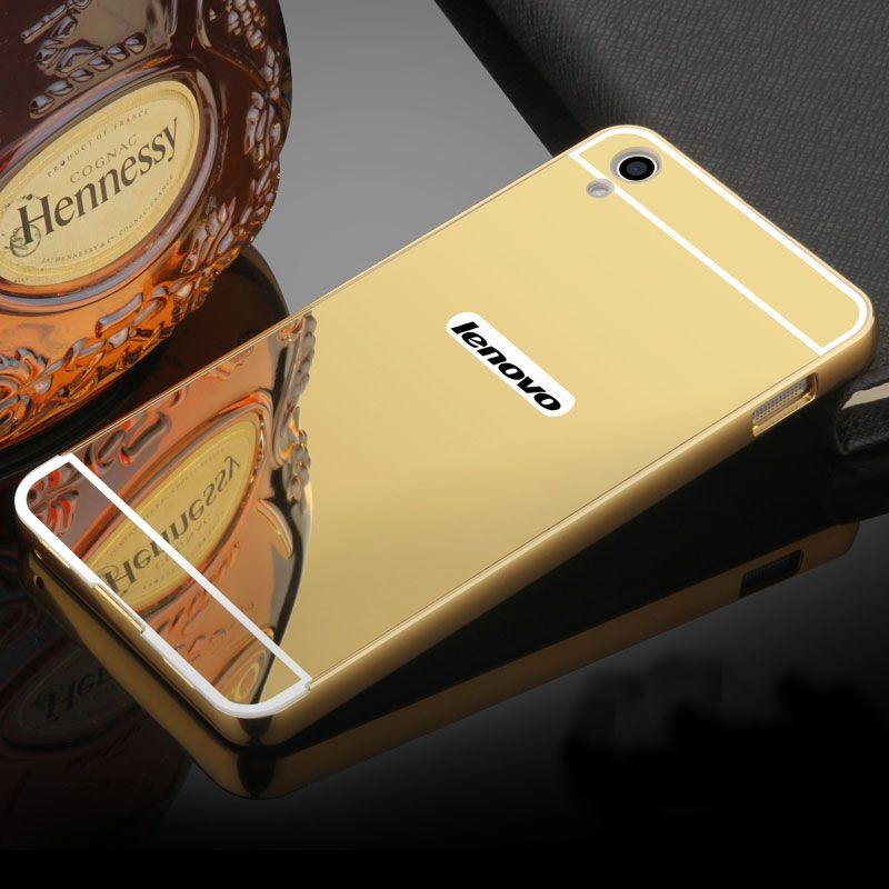For Coque Lenovo S850 Case Hard Aluminum Metal Frame Bumper Acrylic Back Mirror Case For Lenovo S850 Covers Phone Cases
