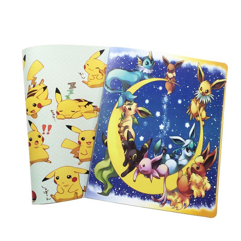Livre d'album pokemon pouvant accueillir 324 cartes, Photos, timbres, liste de Collection 2 types de couverture de bande dessinée offre spéciale