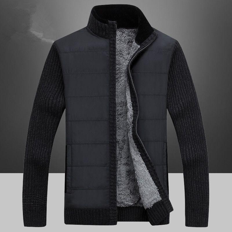 NIANJEEP Marque Vêtements Mode Cardigans de Chandail Hommes Cardigan Tricots D'hiver Épaissir Chaud Hommes Chandails Plus La Taille
