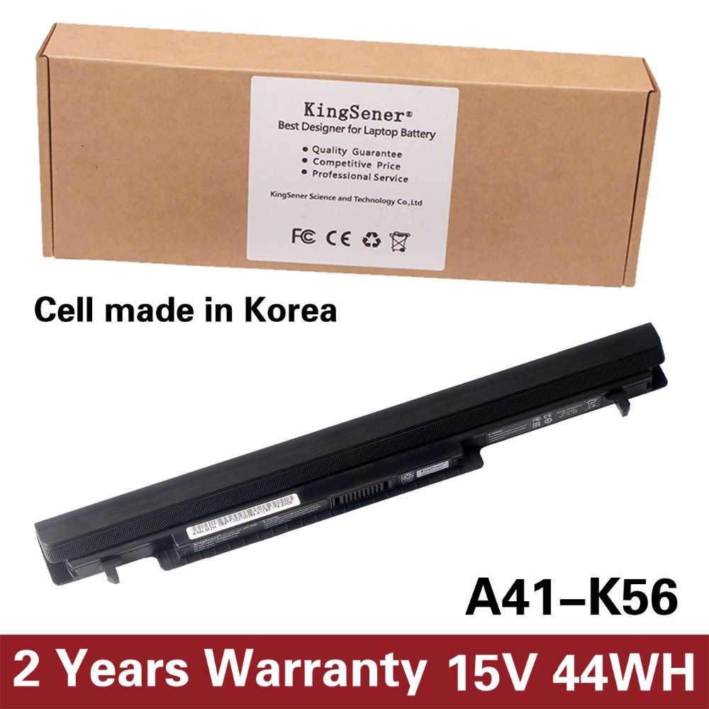 Korea Cell KingSener New A41-K56 Battery for ASUS K46 K46C K46CA K46CM K56 K56CA K56CM S46C S56C A32-K56 A42-K56 15V 2950mAh