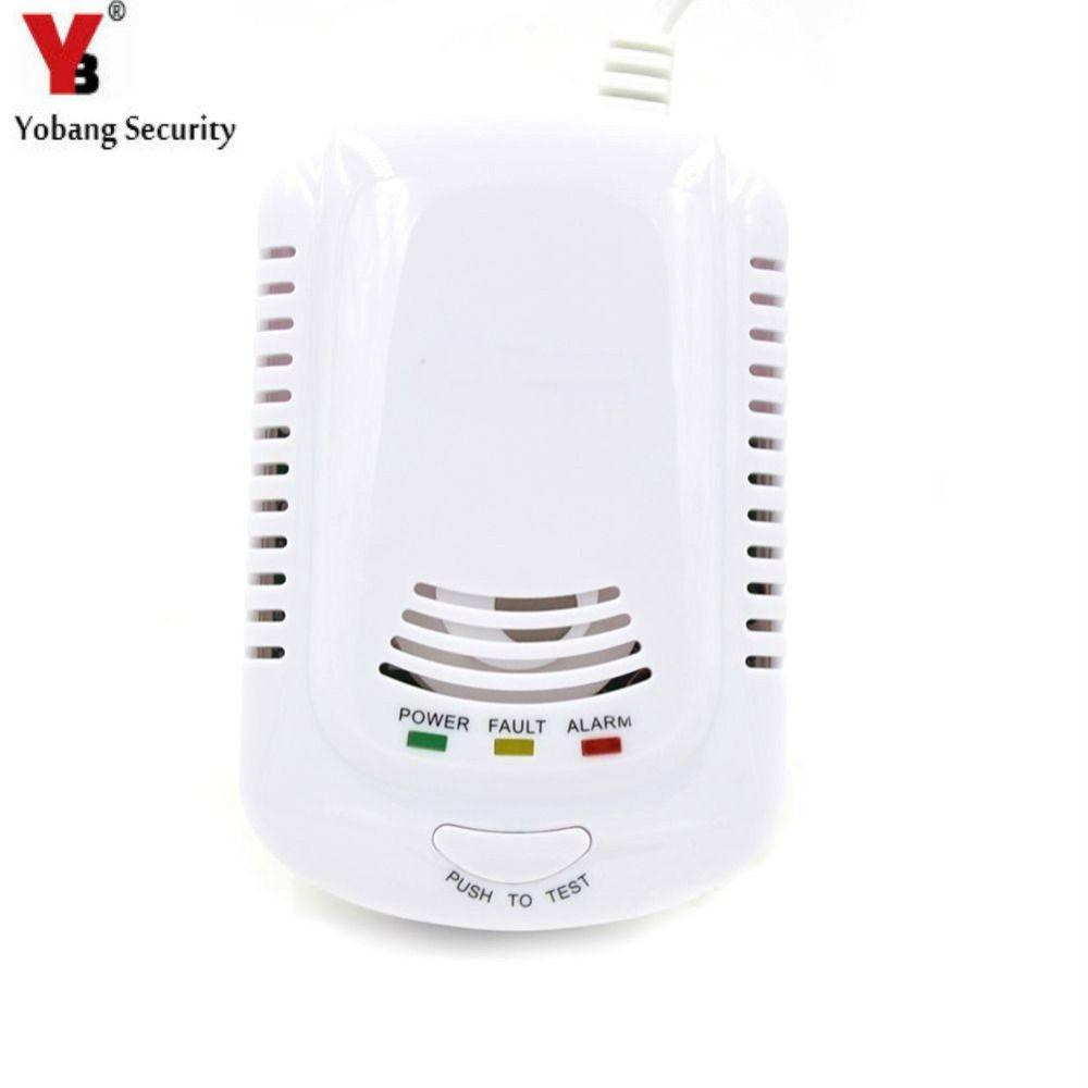 YobangSecurity HighSensitive Independent Plug In Combustible Natural Gas Leakage Alarm Detector Gas Leak Sensor For Home Kitchen