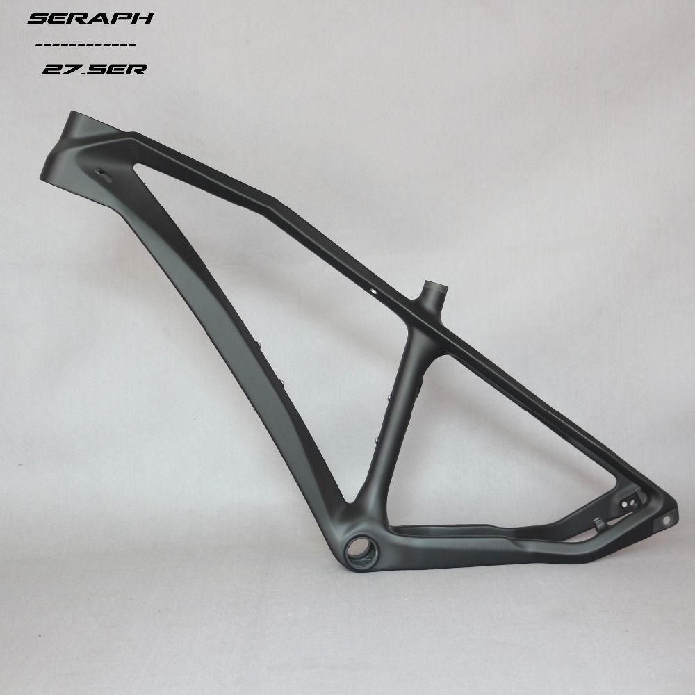 Free shipping SERAPH MTB frame 27.5er hard tail carbon bike frame cheaper OEM Famous brand frame clearance sell 142*12mm