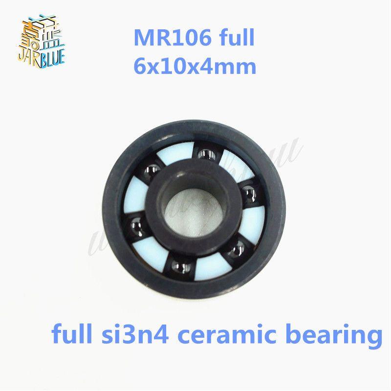 Free shipping MR106 full SI3N4 ceramic deep groove ball bearing 6x10x4mm high quality