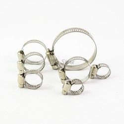 10pcs/lot High Quality Screw Worm Drive Hose Clamp 304 Stainless Steel Hose Hoop Pipe Clamp Clip