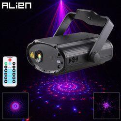 ALIEN Rouge Bleu 12 Modèles Laser Éclairage de Scène Effet À Distance DJ Disco Dance Party Vacances De Noël Son Activé Laser Lumières