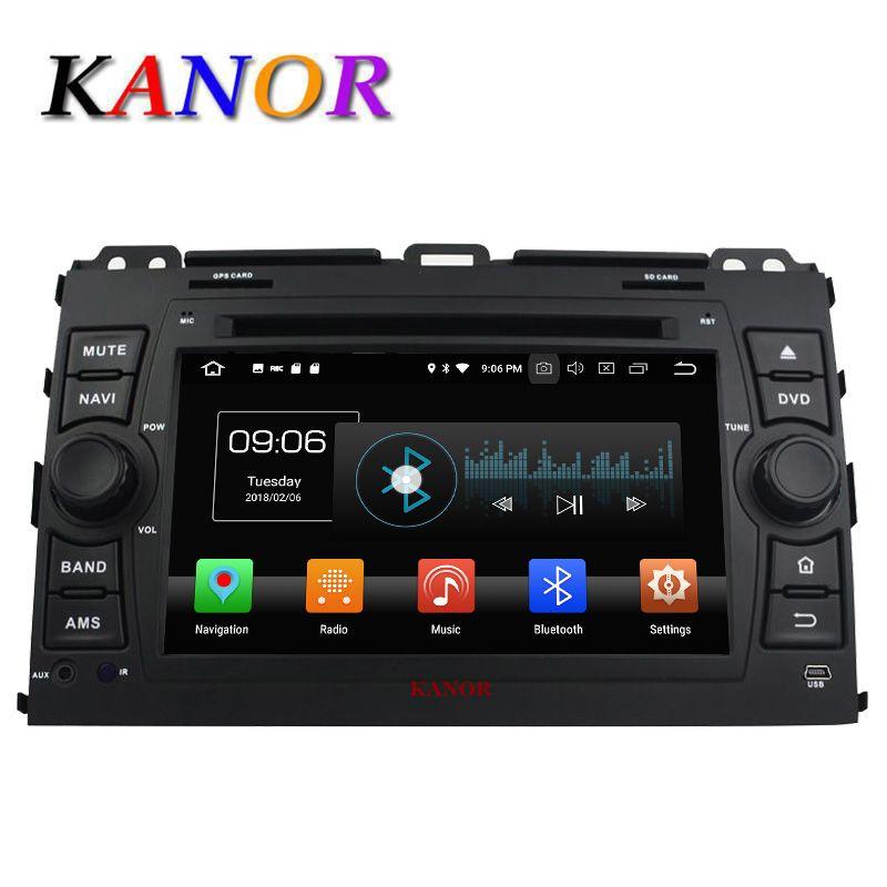 KANOR 2din автомобильный Радио Android 8,0 600*1024 Octa Core 4 + 32 г для Toyota Prado 120 2013-2006 автомобильный головное устройство автомобиля видео Naviagation