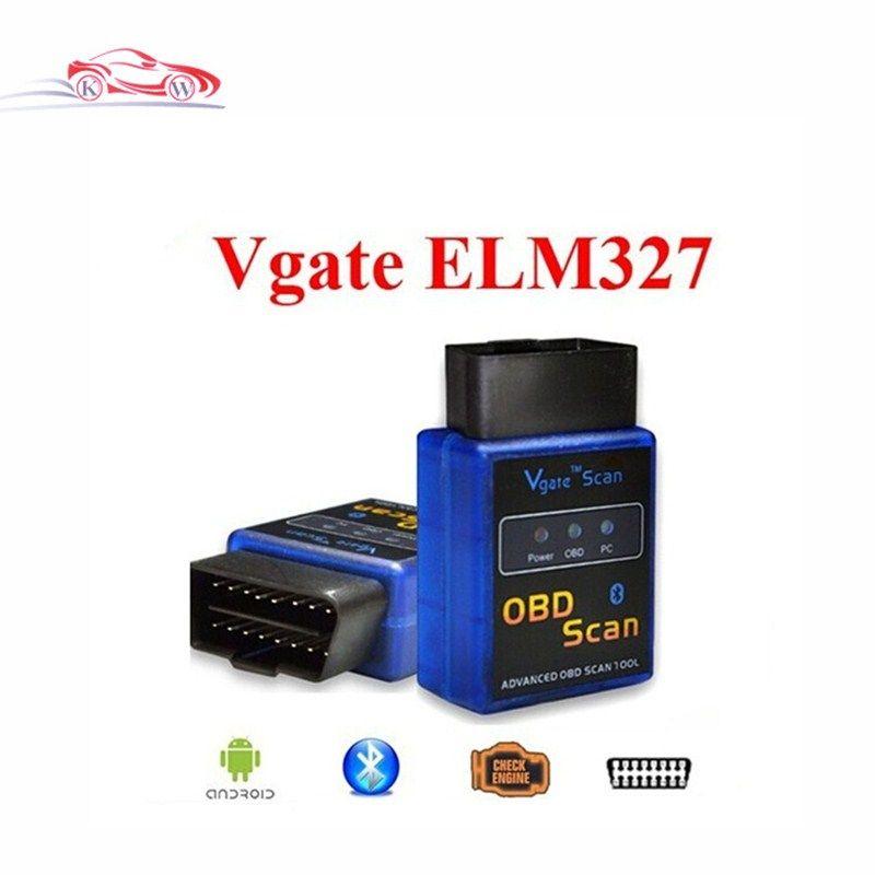 Best selling New MINI ELM 327 Bluetooth Vgate Scan OBD2 / advanced obd scan OBDII ELM327 V2.1 Code Scanner