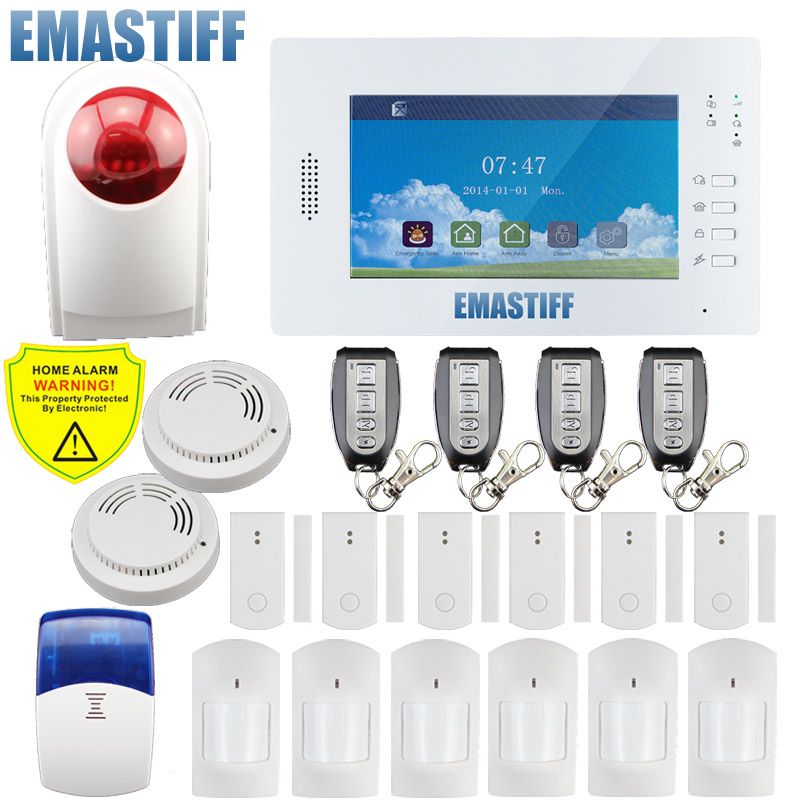 X6 APP Stronger signal 868mhz Big Color Screen 7inch GSM Home Security Alarm System for home English/Germany/Italian/Dutch menu
