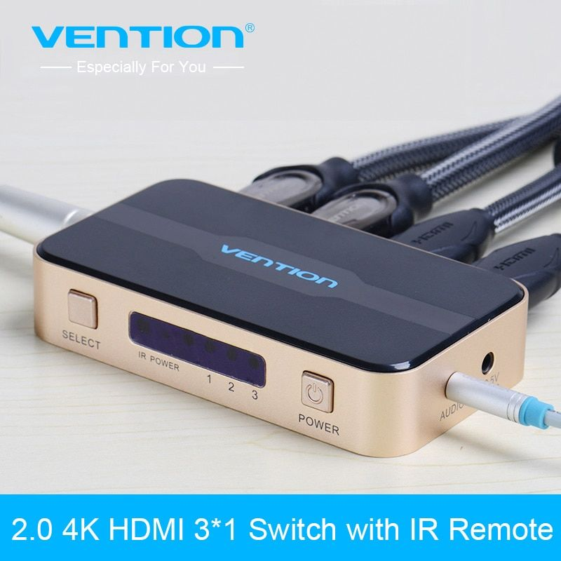 Vention 3 Port HDMI Switch Switcher HDMI Splitter HDMI Port for PS3 PS4 for Xbox 360 PC DV DVD HDTV 1080P 3 Input to 1 Output