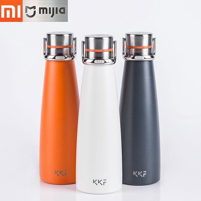 New Xiaomi KKF Vacuum Bottle 24h Insulation Thermoses Stainless Steel Thermos Flask Travel Mug 475ML Portable Insulation Cup