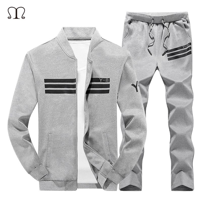 Men Sporting Suit Set Men 2017 Winter Warm 2 piece Tracksuits Sets Brand Men Sportswear Sets Leisure Zipper Hooded Mens Clothing