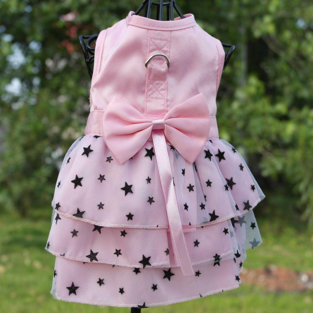 Pink Green Harness Dress for Dogs Summer Pink Tulle Chiffon Pet Puppy Harness Dress Skirt Pet Clothes XXS XS S M L XL