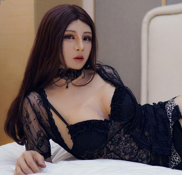 (Haene) silikon Vollen Kopf Mit Torso Weibliche Gesicht Kigurumi Cosplay DMS Crossdress Maske Mit D Tasse Brust Form Crossdresser PUPPE