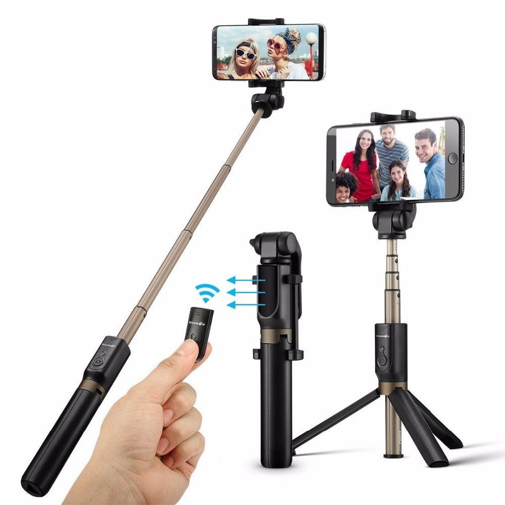 Ulanzi Poche Bluetooth Selfie Bâton Trépied Smartphone Mini Vidéo Trépied Monopode pour iPhone 7 8 Samsung Huawei Xiaomi Gopro 5