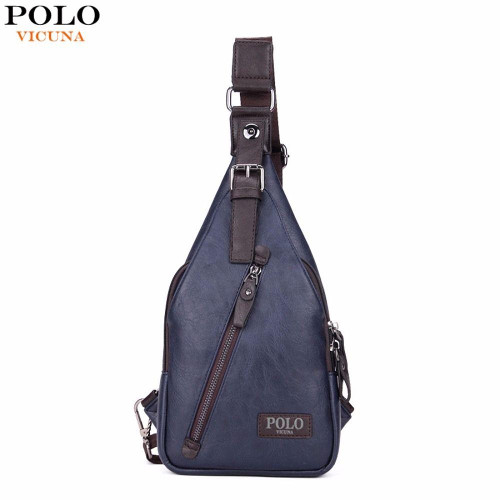 Викуньи поло известный бренд theftproof магнитная кнопка открыть мужские кожаные груди Сумки модные Crossbody Travel Bag человек сумка