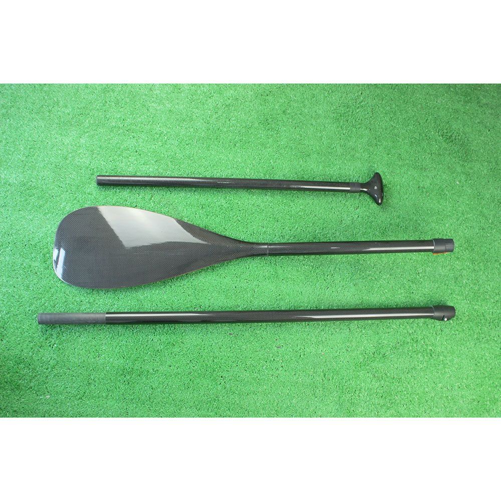 Hohe Qualität Leichte 3-teilige Einstellbar Kohlefaser SUP Paddle Stand Up Paddle Board und Frei tasche-Q30