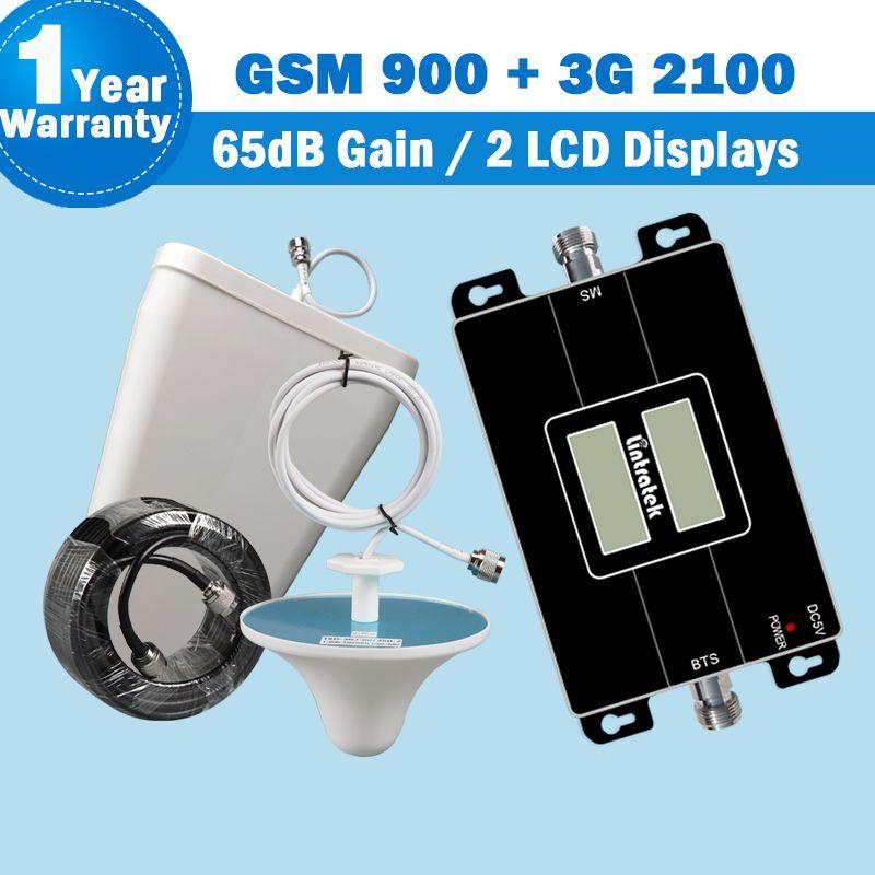 Lintratek 900 GSM 3g 2100 mhz Repeater Dual Band Handy Signal Verstärker Handy 900 + 2100 UMTS 65dB handy-Booster Kit S43
