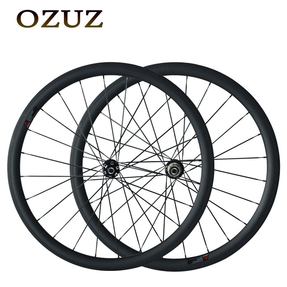 Custom Duty Free Factory Price Bike Wheel 700C Carbon Wheels 38mm Depth Disc Brake Hub Carbon Wheels Bicycle Racing Touring