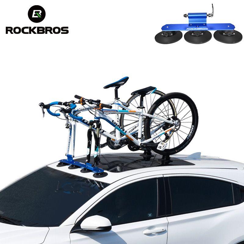 ROCKBROS Bicycle Rack Roof-Top Suction Bike Car Rack Carrier Quick Installation Sucker Roof Rack For MTB Mountain Bike Road Bike
