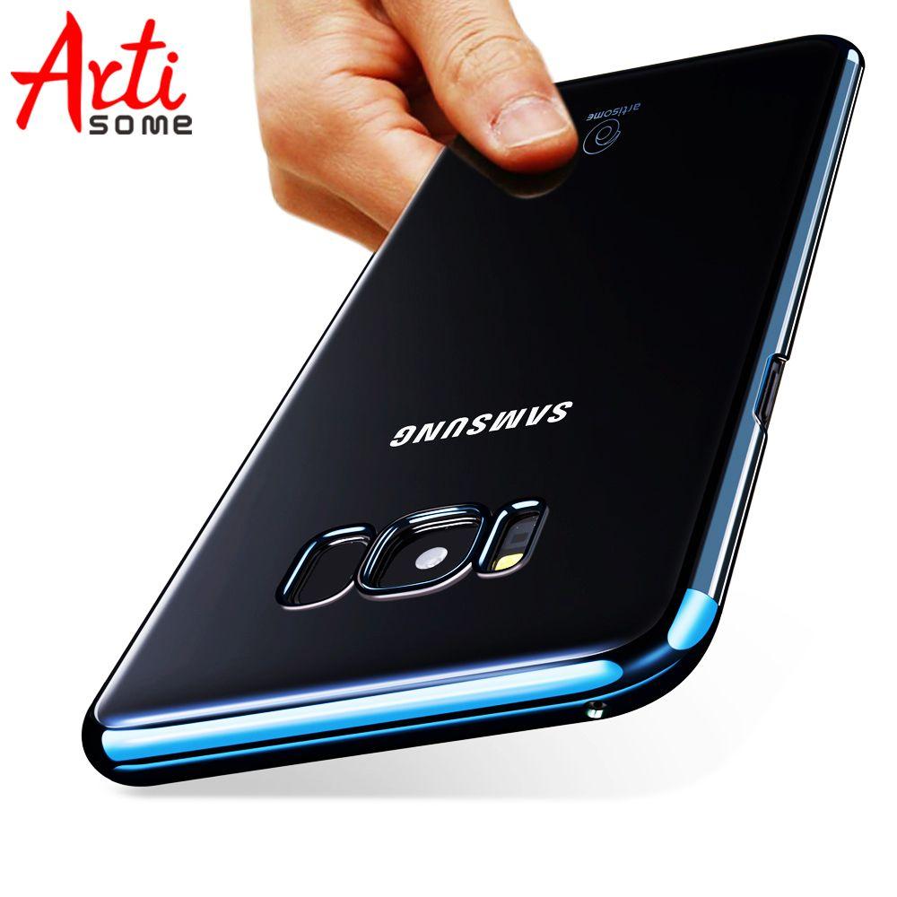 ARTISOME Kunststoff Fall Für Samsung Galaxy S8 S8 Plus Phone Cases Transparent PC Harte Rückseitige Abdeckung Für Samsung S8 Plus Coque Kunststoff