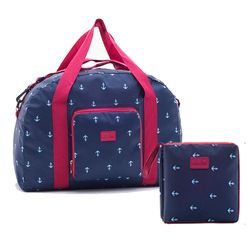 Envío Gratis nueva plegable bolsa de viaje impermeable LIG gran capacidad unisex equipaje embalaje mujeres nylon viaje bolsos