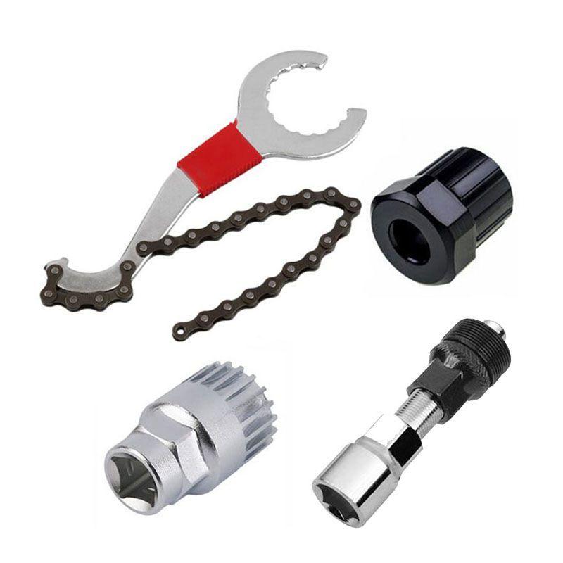 Kits d'outils de réparation de VTT enlèvement de chaîne de vélo/dissolvant de support/dissolvant de roue libre/extracteur de manivelle outils de vélo en plein air