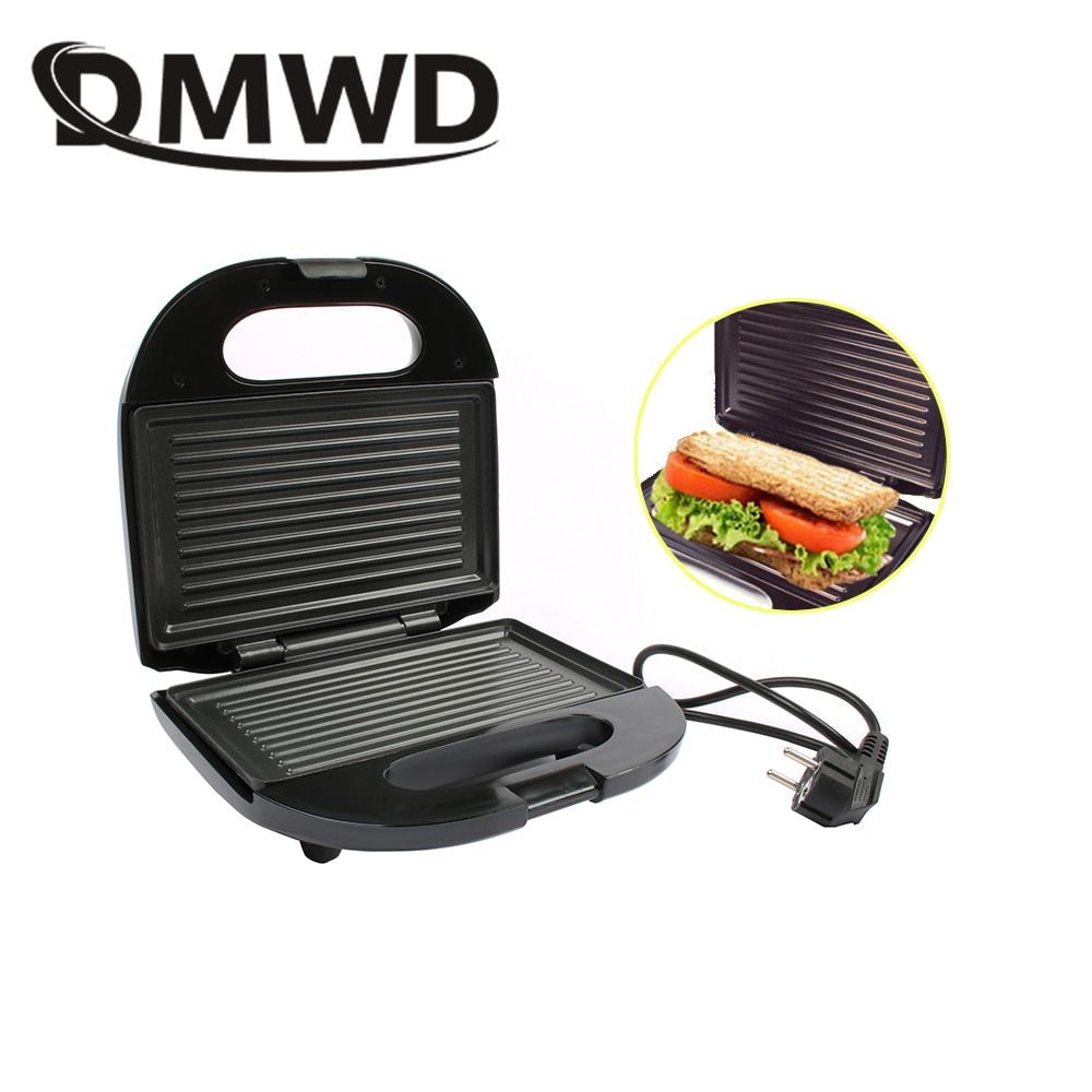DMWD Multifunctional Electric Mini Sandwich Makers grilling Panini plate Waffle toaster breakfast machine barbecue oven EU plug