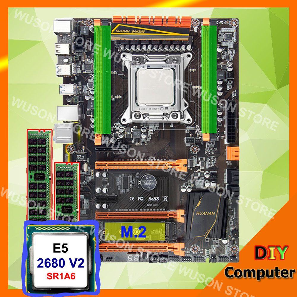 HUANAN ZHI deluxe X79 LGA2011 motherboard processor Xeon E5 2680 V2 SR1A6 RAM 32G(2*16G) DDR3 1600 RECC