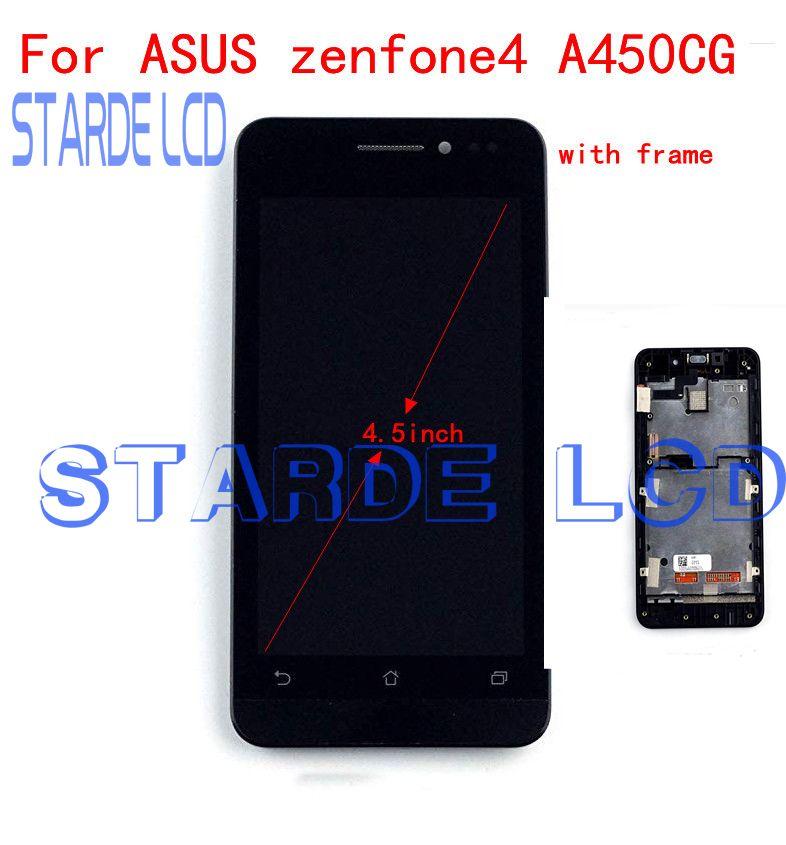 Starde remplacement LCD 4.5 ''pour Asus Zenfone 4 A450CG écran tactile d'affichage à cristaux liquides avec assemblage de numériseur de cadre