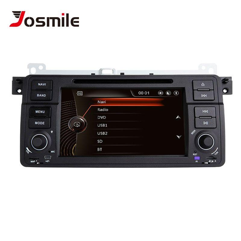 Josmile Auto Multimedia-Player 1 Din Auto Radio Für BMW E46 M3 Rover 75 Coupe Navigation GPS DVD 318/ 320/325/330 Touring Fließheck