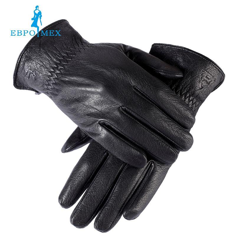 Gut verkaufen handschuhe männlichen, echtes Leder, winter handschuhe, herren schwarze handschuhe, gefüttert Warm, mode Leder herren winter handschuhe