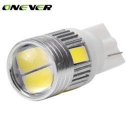 10 Pcs T10 W5W 168 194 SMD LED Voiture Wedge Side Lumière ampoule Lampe Pour Voiture Feu arrière Côté Parking Dôme Porte Carte éclairage
